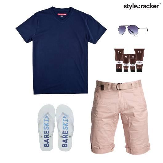 TShirt Casual FlipFlops Vacation Beach - StyleCracker