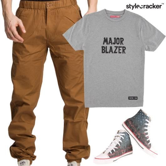 Slogan TShirt HiTop Footwear Casuals  - StyleCracker