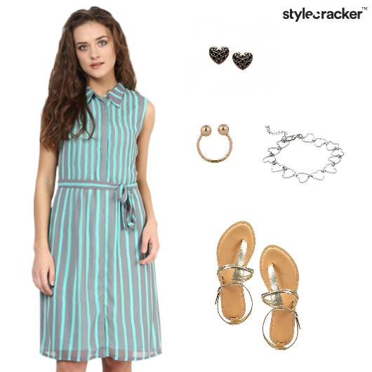 Stripes Casual Shirt Dress Outdoor - StyleCracker