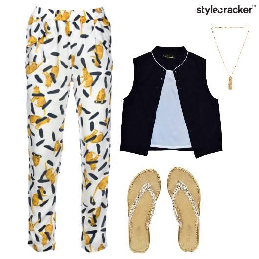 Print Pants CropShirt Casual Outdoor - StyleCracker