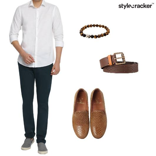Shirt Chinos Tan Accessories - StyleCracker