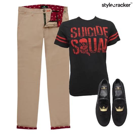 Chino Tshirt Slipons Night Party - StyleCracker