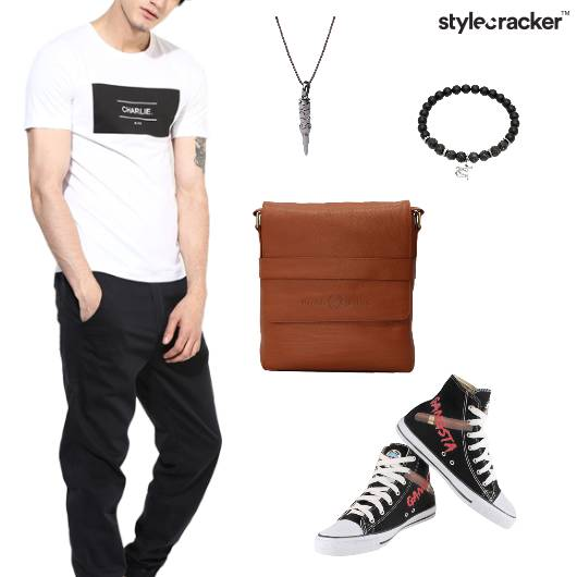 Tshirt Pants Casual College Outdoor - StyleCracker