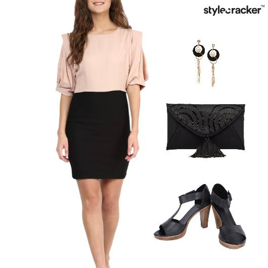 ColorBlock Dress Muted Colors Lunch - StyleCracker