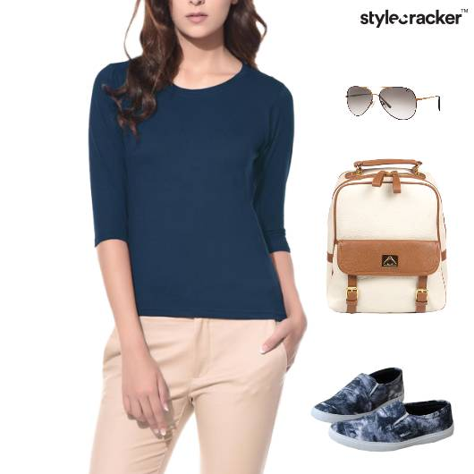 Casual Top SlipOn Footwear Backpack - StyleCracker