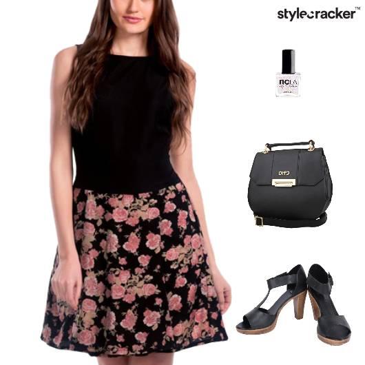 Floral Dress Sling Bag Dinner Weekend - StyleCracker