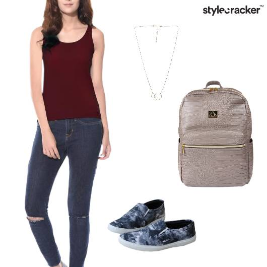 Tank Top Casual College Basic - StyleCracker