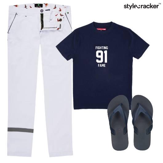 Tshirt Pants Stripe Casual Movie - StyleCracker