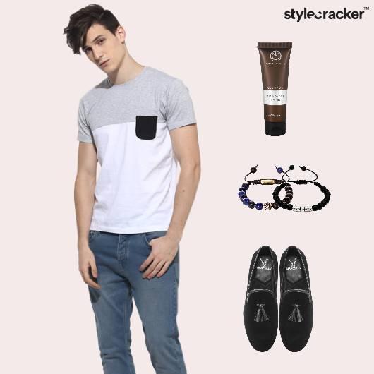 Tee Casual Denim Monochrome  - StyleCracker