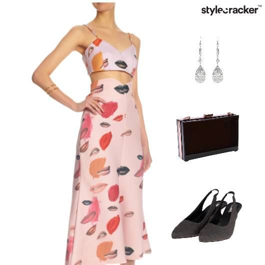 Printed TwinSet Clutch Lunch DropEarring - StyleCracker