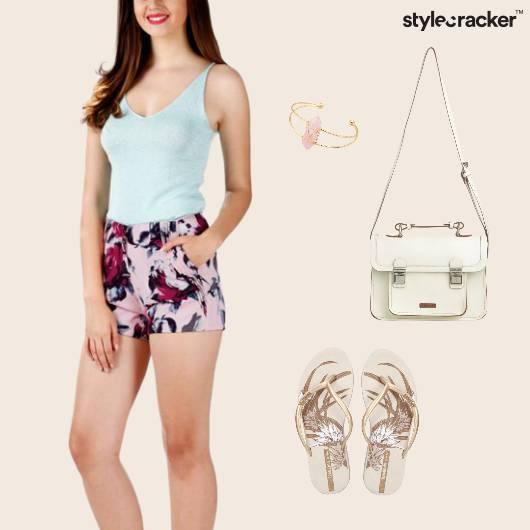Shorts Flipflops Casual Footwear SlingBag  - StyleCracker