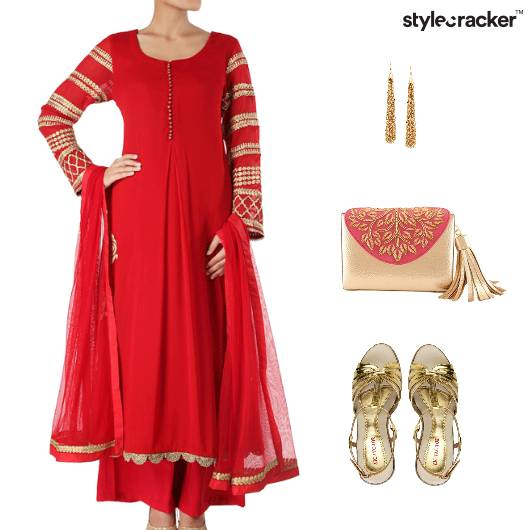 Indian Festive Ethnic Clutch Footwear - StyleCracker