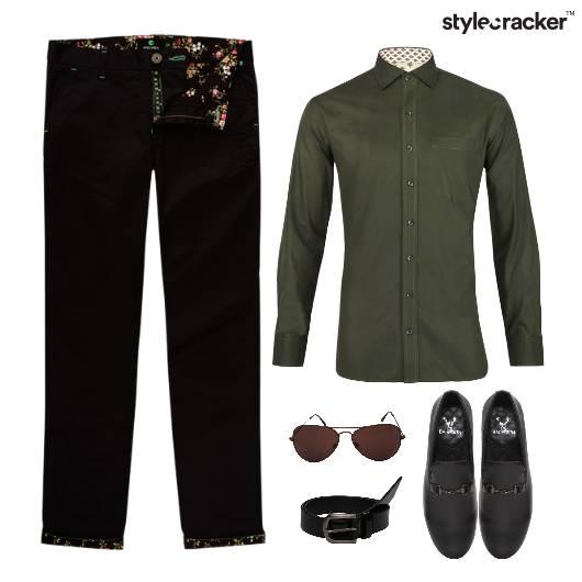 Shirt Chino Pants SlipOn Lunch - StyleCracker