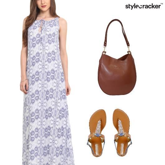 Print Maxi Dress Casual - StyleCracker