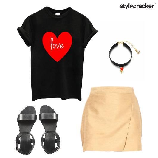 Skort Tshirt Casual Outing  Edgy - StyleCracker