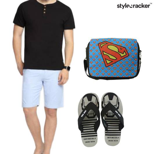 Tshirt Shorts Casual College - StyleCracker