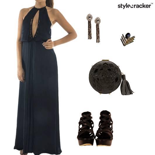 Halter Neck Gown Cocktail Party - StyleCracker