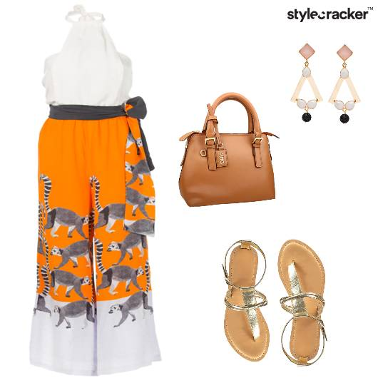 Jumpsuit Prints Casual Lunch  - StyleCracker