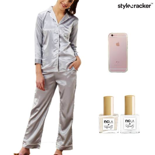 Satin PajamaSet Lazyday  - StyleCracker