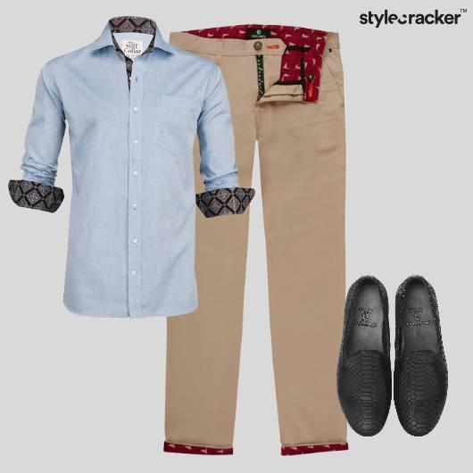 Shirt Formal MondayBlues Trousers - StyleCracker