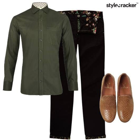 Military Shirt Trousers Causal  - StyleCracker