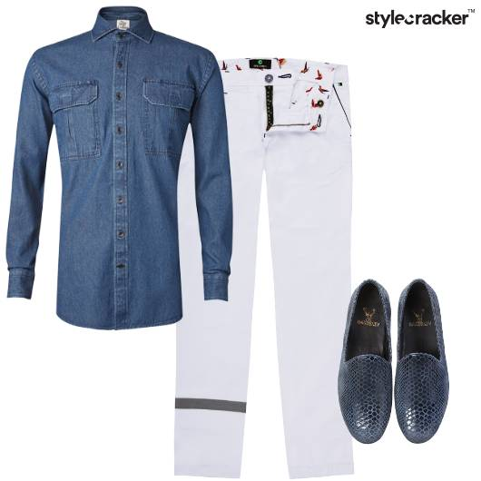 Denim White Casual  - StyleCracker