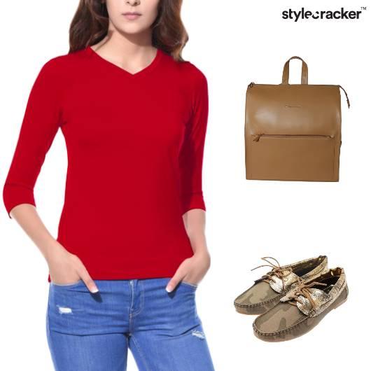 Basic TShirt Backpack Casuals College - StyleCracker