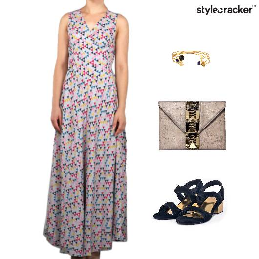 Printed MaxiDress Weekend Clutch Accessories - StyleCracker
