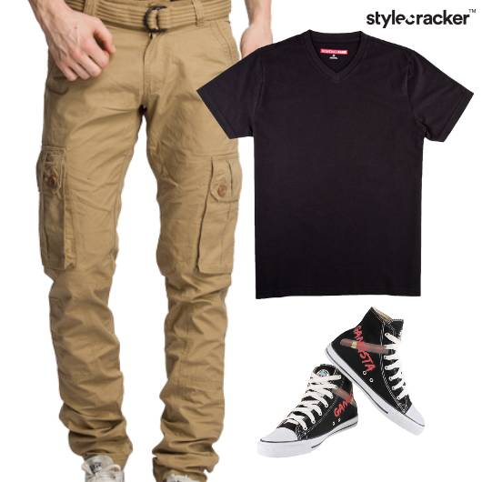 Casual TShirt HiTop Footwear Lunch - StyleCracker