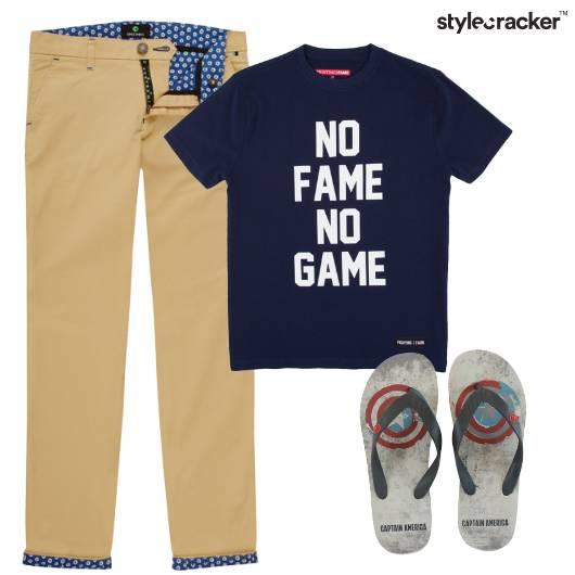 Tshirt Chinos Flats Casual - StyleCracker