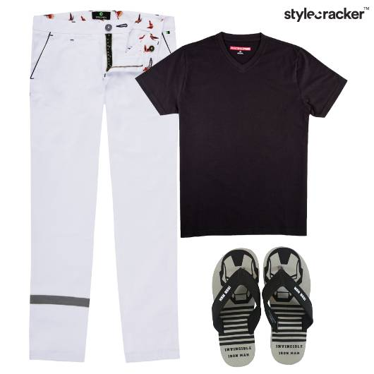 Tshirt Pants Casual Monochrome Basics - StyleCracker