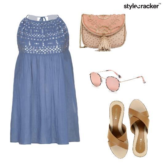 Blues Blush Dress Casual  - StyleCracker
