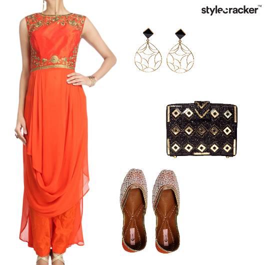 Suit Clutch Indian Drop Earrings  - StyleCracker