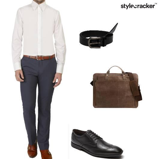 Shirt Trousers Oxfords MessengerBag Work - StyleCracker
