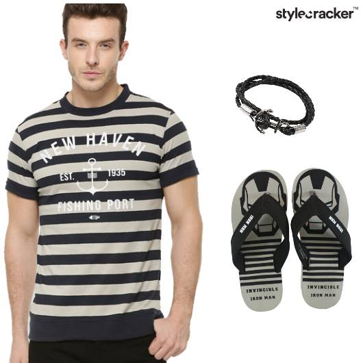 Stripe Tshirt Shorts Casual - StyleCracker