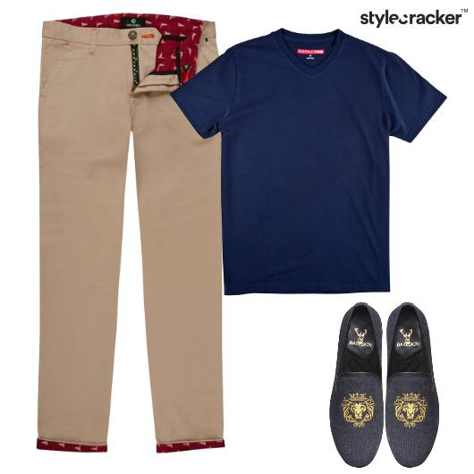 Chinos Tshirt SlipOns Outing Casual  - StyleCracker