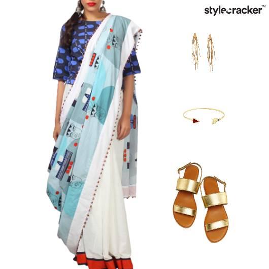 Ethnic Saree Printed Casual - StyleCracker