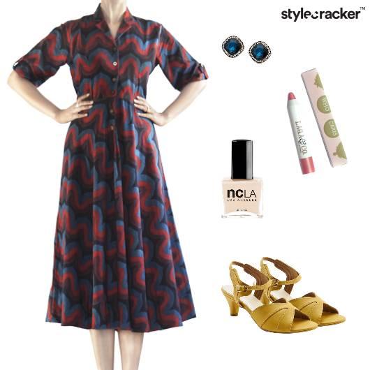 Midi Dress Kitten Heels Vintage - StyleCracker