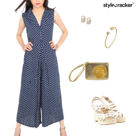 Polkadot Jumpsuit  Brunch - StyleCracker