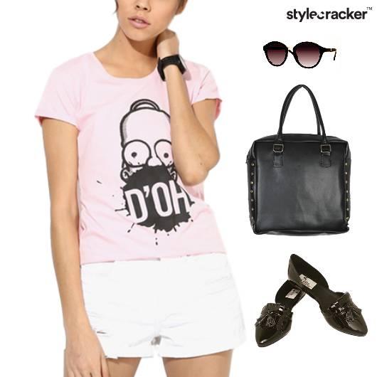 Graphic TShirt Linen Shorts BalletFlats - StyleCracker