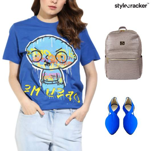 Graphic TShirt Backpack Casual College - StyleCracker