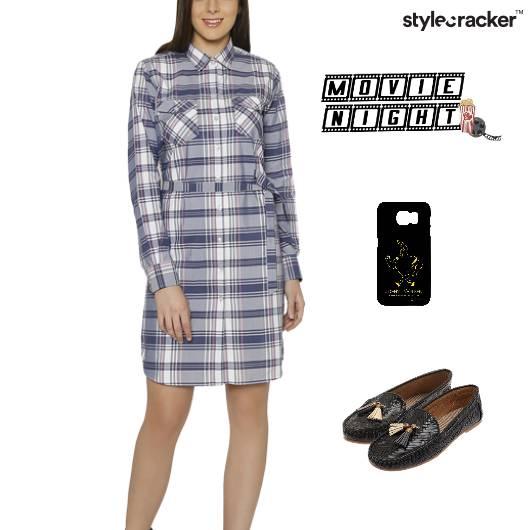 Shirt Dress Loafer MovieNight Weekend - StyleCracker