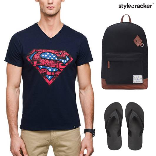 Casual TShirt FlipFlops Backpack Vacation - StyleCracker