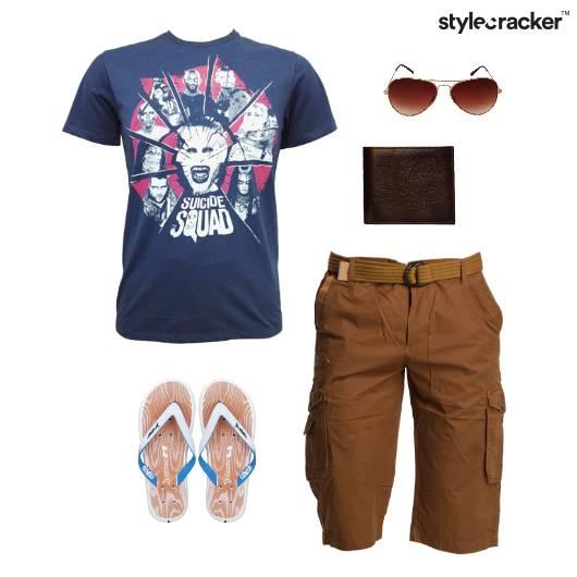 Casual Graphic TShirt Flipflops Vacation - StyleCracker