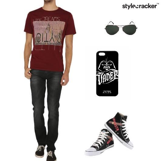 Tshirt Pants Sneakers Sunglasses Casual - StyleCracker