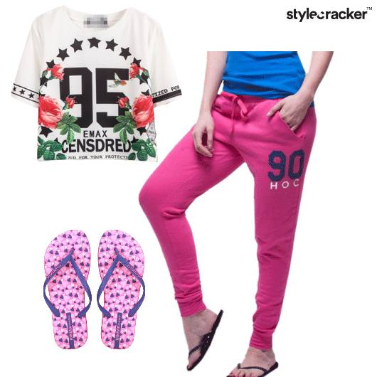 Tshirt TrackPants Flipflops Yoga - StyleCracker