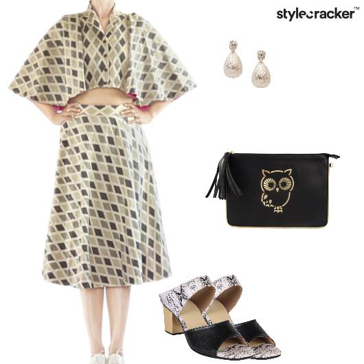 Croptop Skirt BlockHeels SlingBag Brunch - StyleCracker