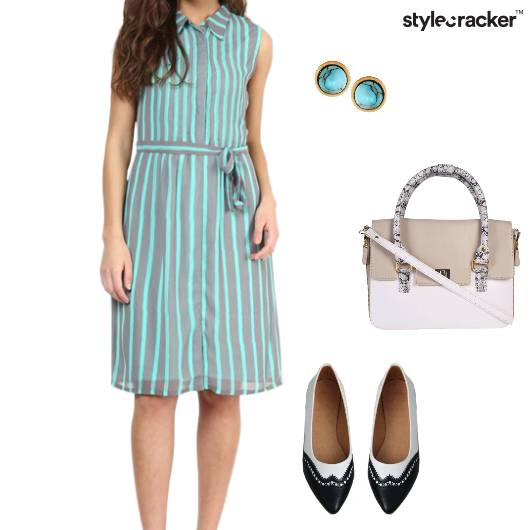 ShirtDress Flats Satchel Brunch - StyleCracker