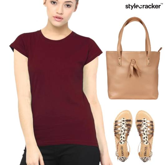 Casual Basic TShirt Flats Tote Bag - StyleCracker