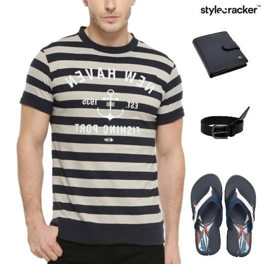 TShirt Casuals Flipflop Footwear Weekend - StyleCracker